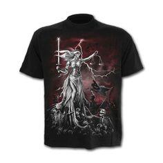 T-shirt homme gothique manches courtes - Blind justice - Spiral