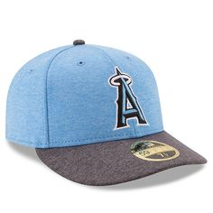 factory price c7c42 75106 Men s Los Angeles Angels New Era Heather Blue 2017 Father s Day Low Profile  59FIFTY Fitted Hat