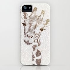 The Intellectual Giraffe iPhone & iPod Case by Paula Belle Flores - $35.00