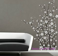 Plum blossom:cherry blossom tree wall decals,wall decals, children wall decals,vinyl wall decal, wall stickers,flowers wall decals on Etsy, $46.00