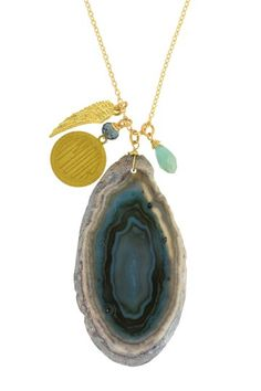 Amour Agate Pendant Necklace by LEILA on @HauteLook