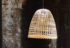 Simple Bamboo Pendant Lamp Design Ideas That Easy To Make Ceiling Pendant, Pendant Lamp, Ceiling Fixtures, Pendant Lights, Lamp Design, Lighting Design, Bamboo Pendant Light, Bamboo Lamps, Wicker Lamp Shade