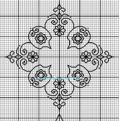 Motifs Blackwork, Blackwork Cross Stitch, Biscornu Cross Stitch, Blackwork Embroidery, Cross Stitch Embroidery, Embroidery Patterns, Cross Stitch Patterns, Swedish Embroidery, Black Work