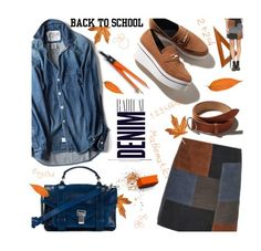 """Back To School"" by julesdiaries ❤ liked on Polyvore featuring MiH Jeans, Alima, Proenza Schouler, MiH, BackToSchool, denim, proenzaschouler and back2school"