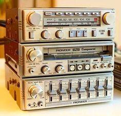 Old School Car Equalizer Hi Fi System, Audio System, Hifi Audio, Car Audio, Radios, Simbolos Star Wars, Audio Vintage, Pioneer Car Stereo, Old School Radio