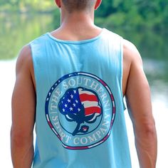 USA Logo Tanks are RESTOCKED and going quick! Grab one here before it's too late>> http://sshirt.co/USA_logo_tank_top #southernshirt #merica #mericamonday