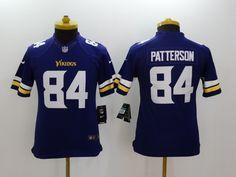 054fddbba Youth Minnesota Vikings 84 Patterson Purple 2014 Nike Limited Jerseys