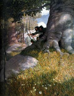 This illustration is by a favorite artist of mine-- N.C. Wyeth.