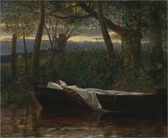 lady shalott by walter crane via art magick the lady of  walter crane the lady of shalott 1862 oil on canvas x cm yale center for british art