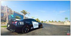 Nissan GTR police car