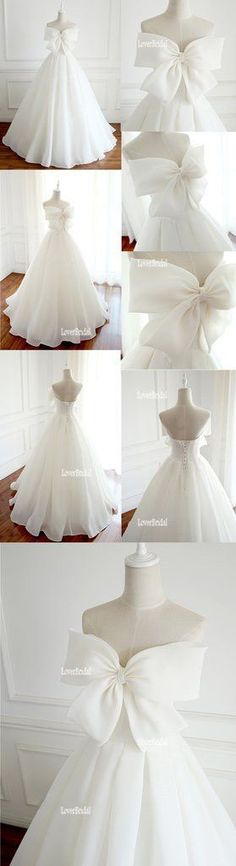 Simple Organza A Line Wedding Bridal Dresses, Custom Made Wedding Dresses, Affordable Wedding Bridal Gowns, WD234 #weddingdress
