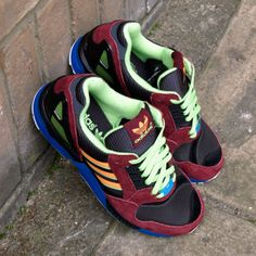 a5f21b1bd9e2e ADIDAS ORIGINALS ZX 9000 25TH ANNIVERSARY TRAINERS DARK BROWN ZEST MACAW