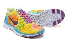 Nike Free TR Fit 2 Womens Lemon Yellow Jade Purple Red