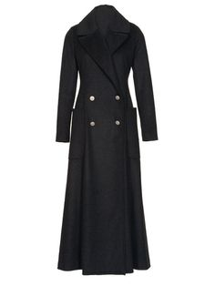 Ankle Length Double Breasted Wool Coat Pattern