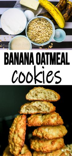 Super delicious and super scrumptious Banana Oatmeal Cookies Recipe. Made of ripe bananas and healthy oatmeal. Best Banana Cookies Recipe out there. What Is Healthy Food, Quick Healthy Meals, Good Healthy Recipes, Healthy Eating, Healthy Breakfasts, Clean Eating, Banana Cookie Recipe, Oatmeal Cookie Recipes, Healthy Banana Oatmeal Cookies