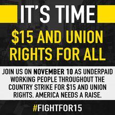 FightFor15 @women4Bernie