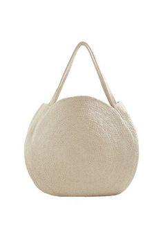 c0124f67a6 MANGO Round shopper bag Types Of Bag