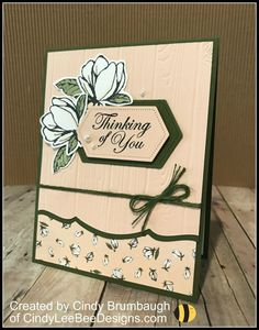 Stampin' Up Good Morning Magnolia Bundle Sneak Peek – Cindy Lee Bee Designs Tarjetas Stampin Up, Bee Design, Stamping Up Cards, Get Well Cards, Card Tutorials, Card Sketches, Sympathy Cards, Paper Cards, Flower Cards