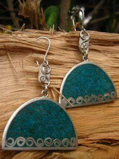 killari: ARETES DE PLATA Ethnic Jewelry, Boho Jewelry, Beaded Jewelry, Jewelry Accessories, Jewellery, Resin Jewelry, Fine Jewelry, Jewelry Making, Statement Earrings