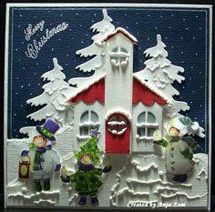 Christmas Is Coming, Christmas Wishes, Christmas Greetings, Christmas 2019, Merry Christmas, 3d Cards, Christmas Cards, Christmas Ornaments, Marianne Design Cards