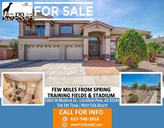 """FEW MILES FROM SPRING TRAINING FIELDS AND STADIUM"" 