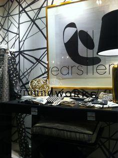 Twitter / @DESIGNmyhrtout: Black and gold @kellywearstler window in #NYC pic.twitter.com/8qftgg6p #storewindows #fabric