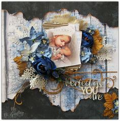 "2 Crafty Chipboard : ""Perfect As You Are""A Layout By Di Garling Baby Girl Scrapbook, Baby Scrapbook Pages, Scrapbook Page Layouts, Scrapbook Borders, Scrapbook Designs, Heritage Scrapbooking, Digital Scrapbooking, Scrapbooking Ideas, Digital Papers"