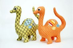 Dinosaur Pattern. Stuffed Dinosaur PDF Sewing Pattern. Dinosaur Softie