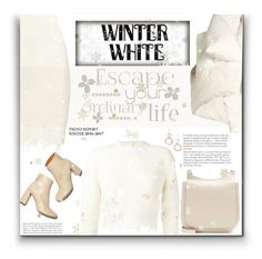 """""""WinterWhite"""" by fassionista ❤ liked on Polyvore featuring adidas Originals, Marques'Almeida, The Row, Ippolita, Winter, WhiteOnWhite, Yeezy and fashionset"""