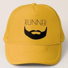 RUNNER WITH BEARD TRUCKER HAT