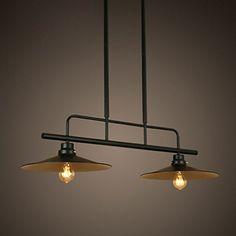 Lampadario loft american country vintage lampade in stile for Lampadario amazon