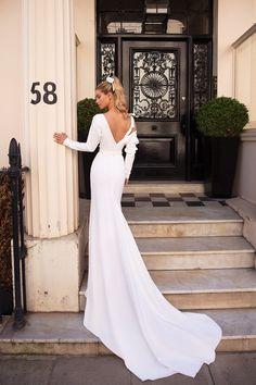 Bridal Dress Collection Luxury Milla Nova Wedding Dresses – Just White Bridal Collection Wedding Dress Sleeves, Long Sleeve Wedding, Modest Wedding Dresses, Bridal Dresses, Wedding Gowns, Bridal Collection, Dress Collection, Classic Wedding Dress, White Bridal