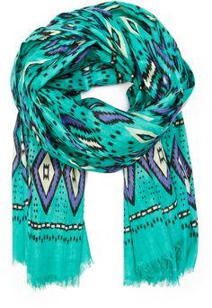 Ethnic Print Cotton Foulard