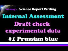 IB Chemistry IA Draft check experimental data 1 Prussian blue - YouTube