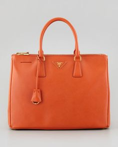 Saffiano+Lux+Medium+Executive+Tote+Bag,+Orange+by+Lol Really!!+at+Neiman+Marcus.