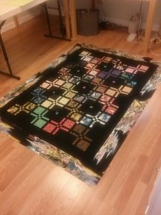 I love the setting of this DP4 quilt. The colors are so rich. From the Quilting Board