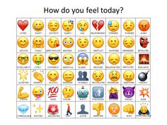 Attempted to make an updated emoji how do you feel chart                                                                                                                                                                                 More