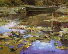 Le Bateau au Repos (Boat at Rest) by Howard Friedland, 16x20 Oil