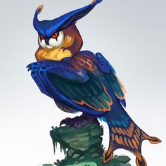 I'm in love with this owl now Hororohoruru - Monster Hunter X Monster Hunter Series, Monster Hunter Art, Monster Art, Mythical Creatures Art, Magical Creatures, Creature Feature, Creature Design, Creature Drawings, Animal Drawings
