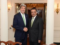 Dr. Tedros meets with US Secretary of State, John Kerry, at the State Department