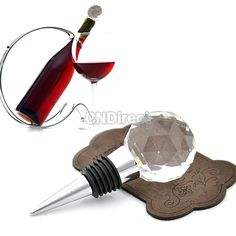 ONLY $3.10 Solid Crystal Class Red Wine Bottle Stopper