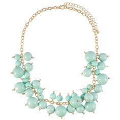 Mint Cluster Bubble Necklace | $12 | jewelboxonline.com