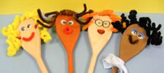 Wooden Spoon Puppets idea created by Play Resource staff!