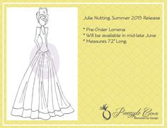 Pre-Order  - Prima & Julie Nutting Mixed Media Doll Stamp : Lorrena (Summer 2013 Release 910280) $8.50