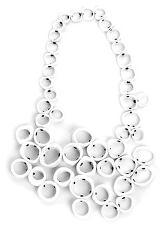 """Isabelle Hertzeisen Necklace: Cellula, 2010 Silver 925, Bones, O-Rings Project: """"Bichromie"""", 2010"""