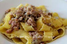 Salsiccia e porri ragù bianco con pappardelle ricetta il mio saper fare