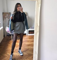 ✔ Aesthetic Clothes Outfits Skirt in 2020 Mode Outfits, Grunge Outfits, Trendy Outfits, Fall Outfits, Fashion Outfits, School Skirt Outfits, Summer Outfits, Look Fashion, Korean Fashion