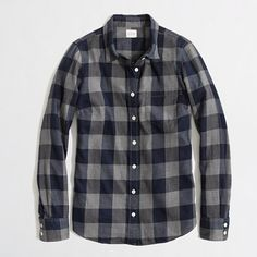 J.Crew Factory - Factory classic button-down shirt in flannel