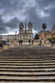 The Spanish Steps - Rome, Italy It looks different now that people are not allowed to sit on the steps.