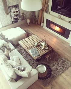 A living room should be a place where you feel relaxed, happy, and able to have a sweet conversation with your guests and the way you … - Decoration For Home Cozy Living Rooms, Home Living Room, Living Room Decor, Living Room Inspiration, Interior Inspiration, Home And Deco, Cozy House, Sweet Home, House Design